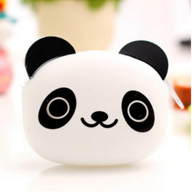 цена на Mini cartoon zipper pocket Silicone Coin Purse Animals Small Change Wallet Purse Key Wallet Coin Bag For Children Kids Gifts