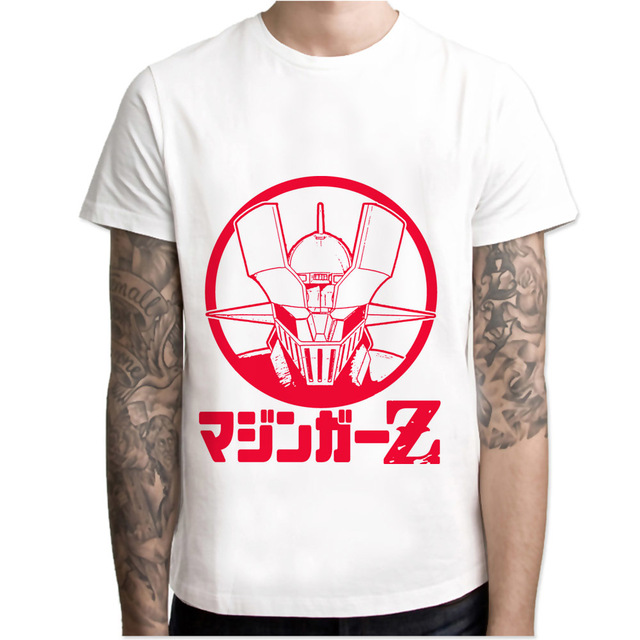 Mazinger Z t shirt men cartoon 2017 cool funny white tshirt print T-shirt  men Tees M7R1458 8bf4c3d2ae30