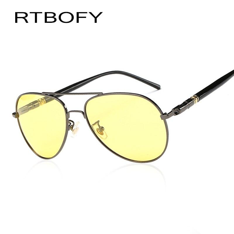 RTBOFY Night Vision Glasses Polarized Sunglasses for Men and Women Glare Reduce Goggles WDH209-4