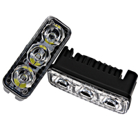 2Pcs Auto Lamp Car DRL 6 LED Bulbs Waterproof DC 12V Universal Daytime Running Light Car