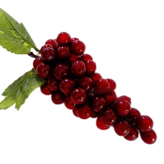 1pcs Artificial Grapes Plastic Fruit Food Home Decor Decoration Fake Grapes