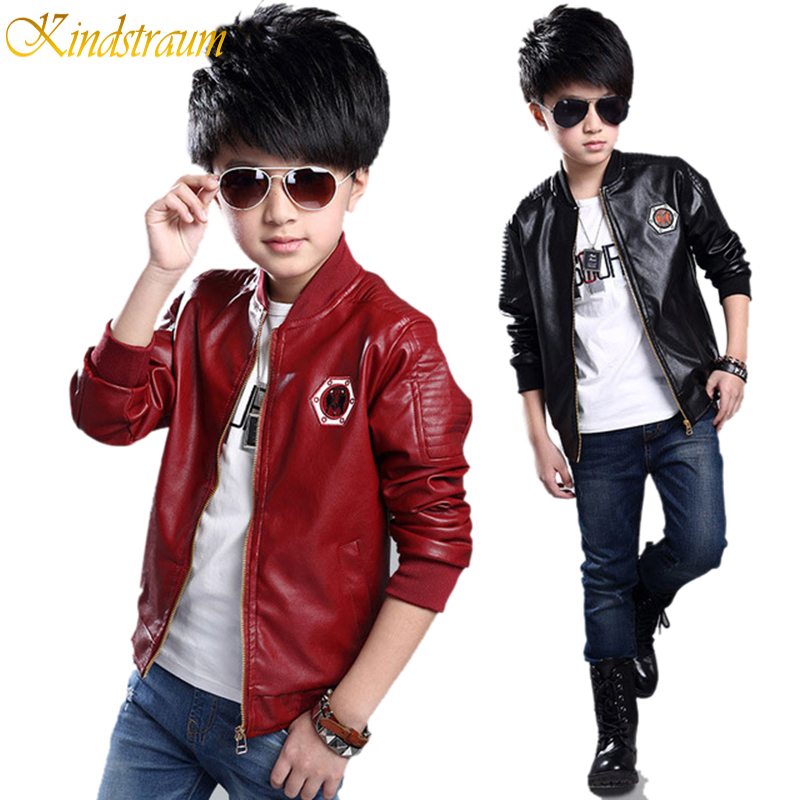 1cdd15e8e7d Kindstraum 2016 New Boys Faux Leather Jackets European and American ...