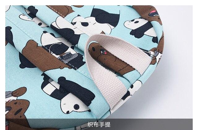 Рюкзак Панда и бурый медведь 2
