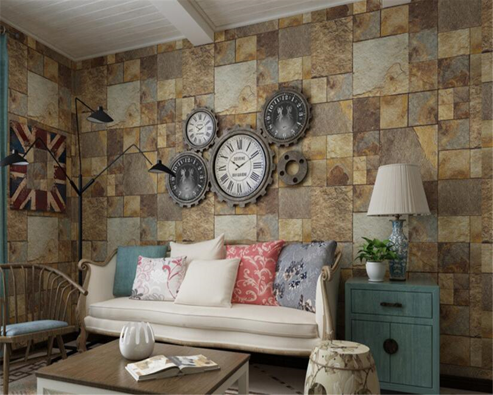beibehang papel de parede Fashion creative Chinese retro waterproof PVC imitation brick 3d wallpaper background wallpaper behang