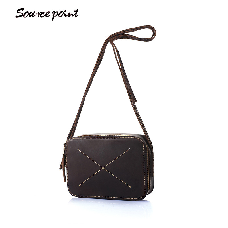 SOURCE POINT New Cowhide Leather Women Bags Genuine Leather Diamond Lattice Shoulder Bags Vintage Male Messenger Bags YD-8020 2017 new female genuine leather handbags first layer of cowhide fashion simple women shoulder messenger bags bucket bags