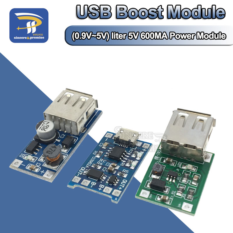 DC-DC Boost модуль (0,9 В ~ 5 В) 600 мА Boost Converter Step Up Module USB Mobile Power Boost Board