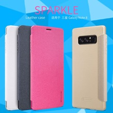 for Samsung galaxy note 8 flip case cover N950f 6.32″ Nillkin sparkle PU leather case for Samsung galaxy note 8