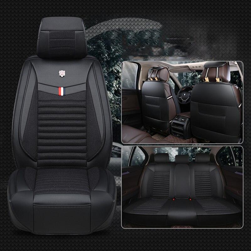 Housses de siège auto universelles en lin pour ford S-MAX smax mk2 taurus focus st fusion explorer f150 fiesta st capri
