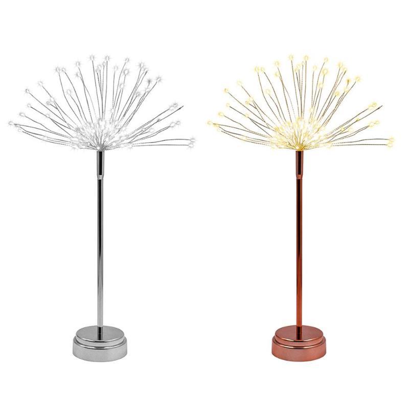 Işıklar ve Aydınlatma'ten Aydınlatma İpleri'de DIY Havai Fişek LED Peri Dize Işık Pil Işletilen Dekoratif Çelenk Lamba Su Geçirmez Noel Düğün Parti Dekorasyon Işık title=
