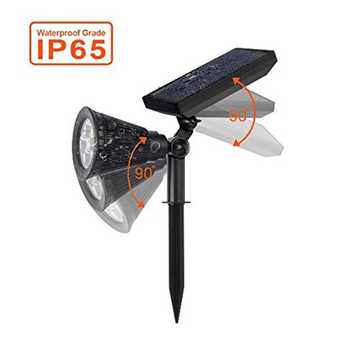 T-SUNRISE 2 PACK Solar light waterproof Powered Garden Spotlight Outdoor Spot Light for Landscap solar sensor light Cold White