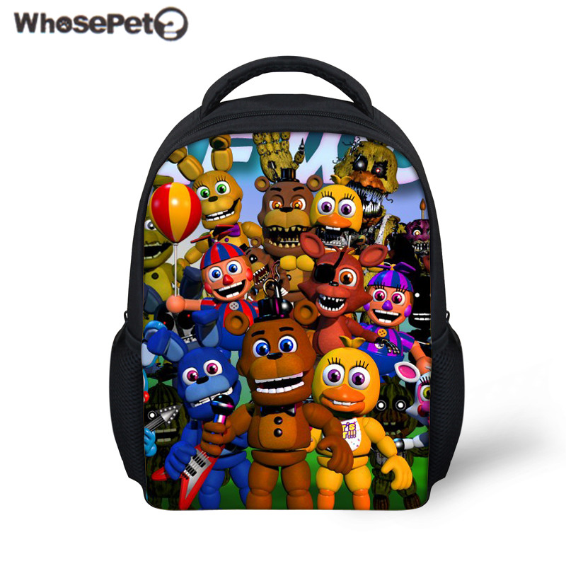 WHOSEPET Kids School Bag Five Night at Freddy Printing Mini Backpack for Baby Boys Girls ...