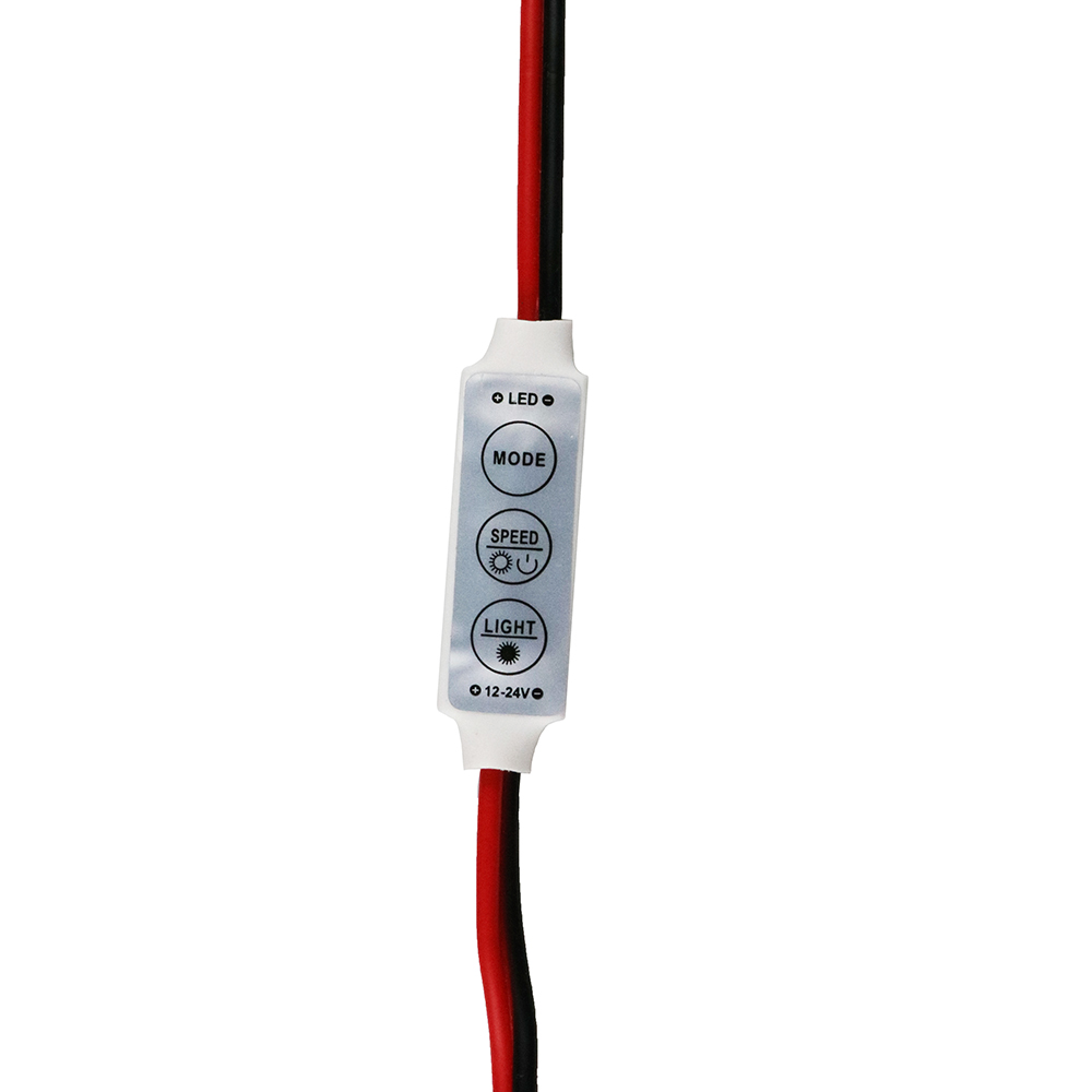 Nuevo regulador de brillo 12V Mini 3 teclas controlador led de un solo color para led 3528 5050 tira de luz al por mayor 1 Uds DJ
