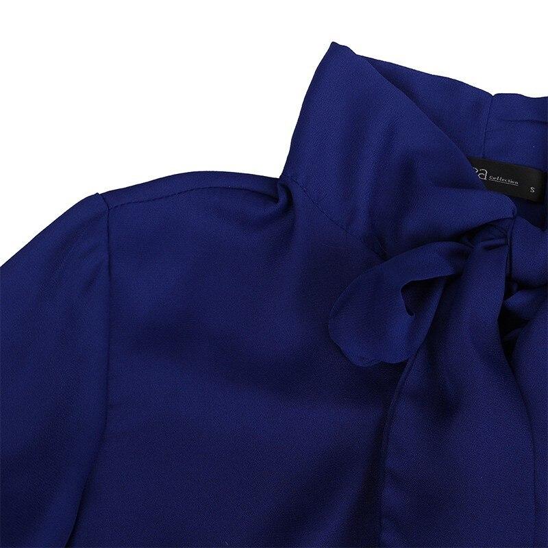 HTB1NKSzLXXXXXcKXFXXq6xXFXXXR - Women Shirt Vestido Bow Long Sleeve Casual Amsymetircal Chiffon