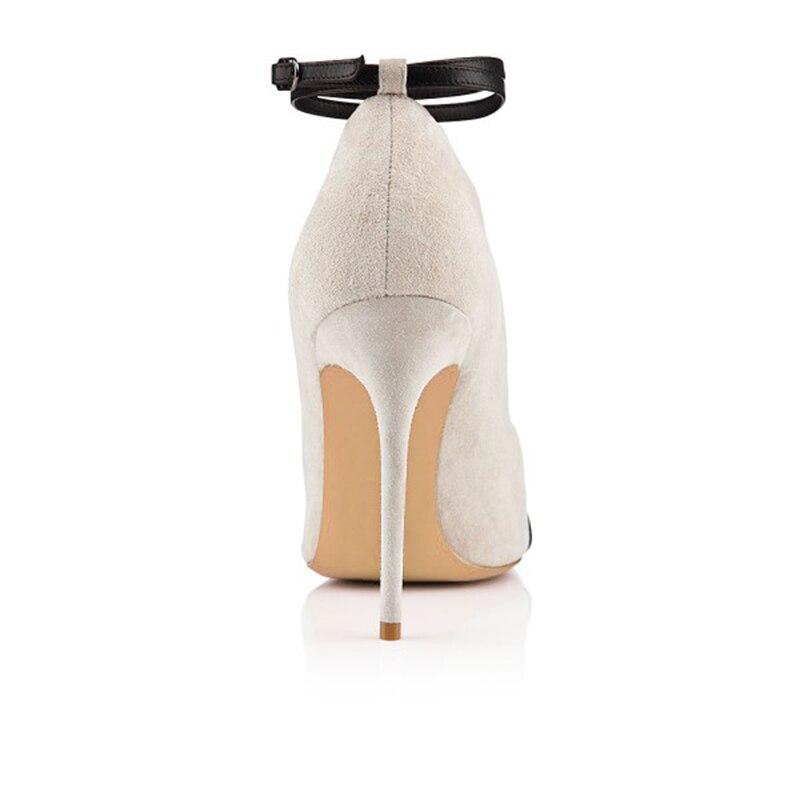 42 4 Toe Semelle Fsj01 Strap Pouce Sexy Mode Métallique Bottes Boot Fsj Peep Beige Taille Blanc Avec Femme Noir Talons Stilettos Cheville Otx0cR