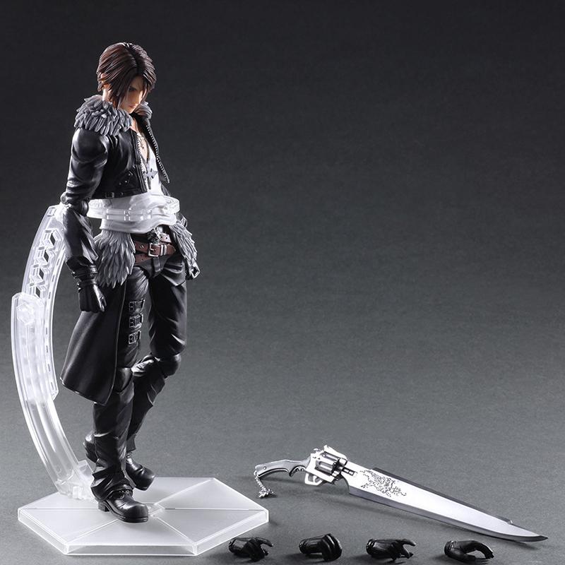 Play Arts Kai Final Fantasy VIII Squall Leonhart Variant Figure Varable Squall Gunblade PVC Action Figures Toy Brinquedos (1)