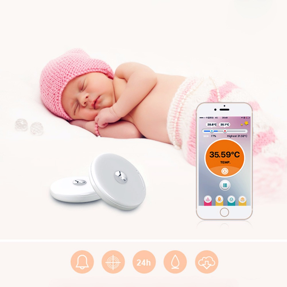 Baby Thermometer Monitor Intelligent Wearable Safe Thermometer Bluetooth 4.0 Smart Baby Monitor Health Care For Children free shipping new children akara intelligent wearable electronic thermometer bluetooth smart baby monitor household thermometer