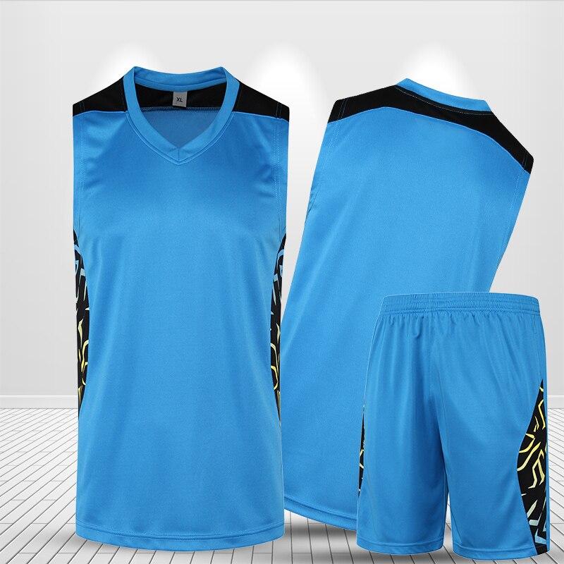 a9b72b09bd7 New Basketball Clothing Men Set Custom Sleeveless Short Printed Jersey  Basketball Game Women Basketball Uniform Suit Plus Size