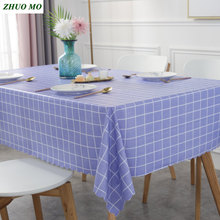 Fashion plaid Waterproof Rectangle tablecloth Nordic style PVC Cover Home Kitchen decoration Party Banquet Dining table cloth