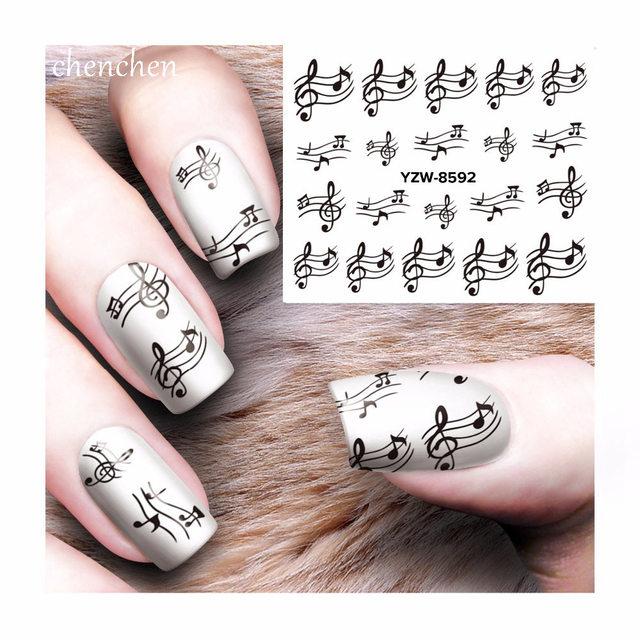 1 Sheet Nail Musical Note Nail Stickers Nail Art Adhesive Stickers