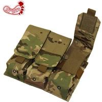 Tactical Pistol Triple Mag Pouch Molle Magazine Pouch Military Vest Combat Assault Accessory Pack For M14