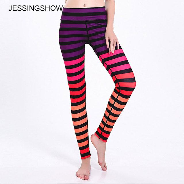 576d537bb9e17 Jessingshow Fitness Leggings Women Slim Thin 3D Printed Red Strip Sporting  Skinny Leggings Girls Pants Trousers Leggins Legging