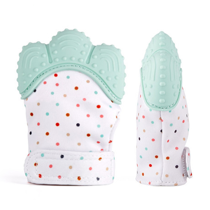 1PCS Baby Silicone Mitts Teething Mitten Glove Candy Wrapper  Teethers Toy Gifts Newborn Silicone Palm Nursing Mittens Teether