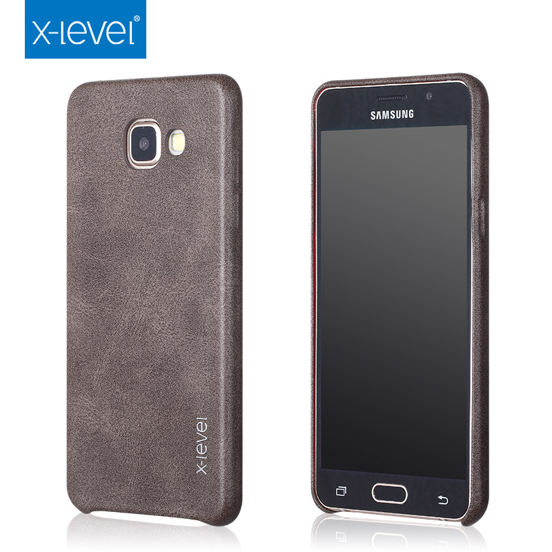 buy online e1212 6a88a US $7.19 20% OFF|for Samsung Galaxy A5 2017 A520F Vintage Case X level  Phone Cover Leather Back Case for Samsung A5 2017 Dual Sim Retro Case-in ...