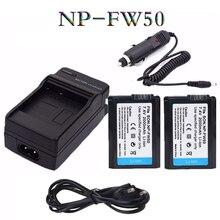 UE/EUA carregador cabo + 2x NP-FW50 FW50 NP bateria da Câmera para SONY A5000 A7R NEX 6 7 5N 5R 5TL A5100 A6000 3Nl 5 T 5C 3N NEX5R