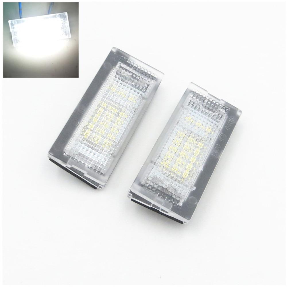 CYAN SOIL BAY 2x Canbus Error Free 18 LED White License Plate Light Lamp 98-05 For BMW E46 4D/E46 5D Touring 12-30v 2x 24 smd led error free license plate light for bmw 1 series e82 e88 e39 e61n car light source