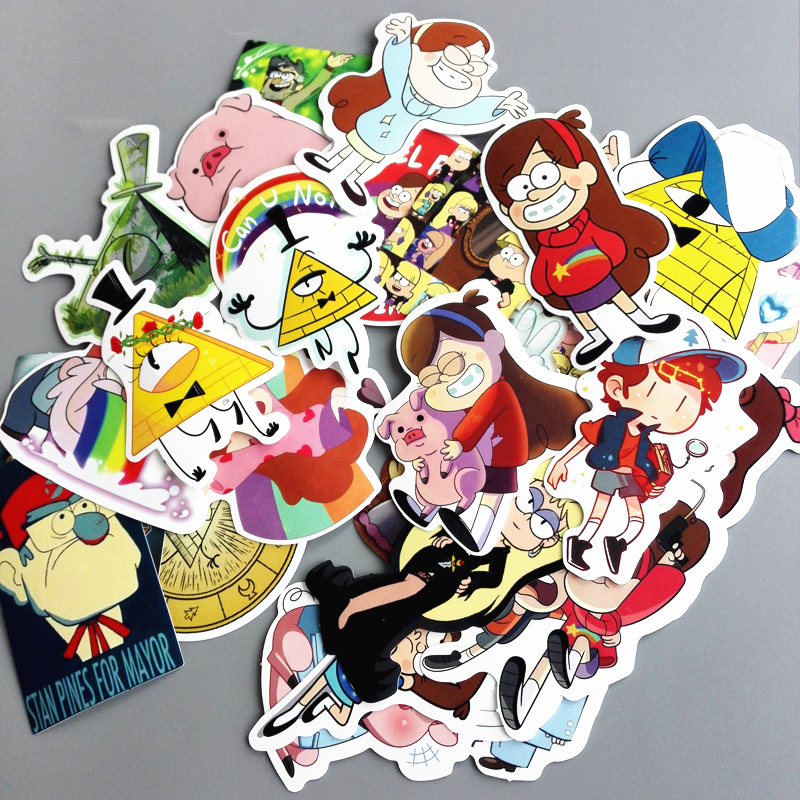 26pc Gravity Falls Stickers Classic Fashion Style Graffiti Sticker For Moto Car Suitcase Cool Laptop Stickers Skateboard
