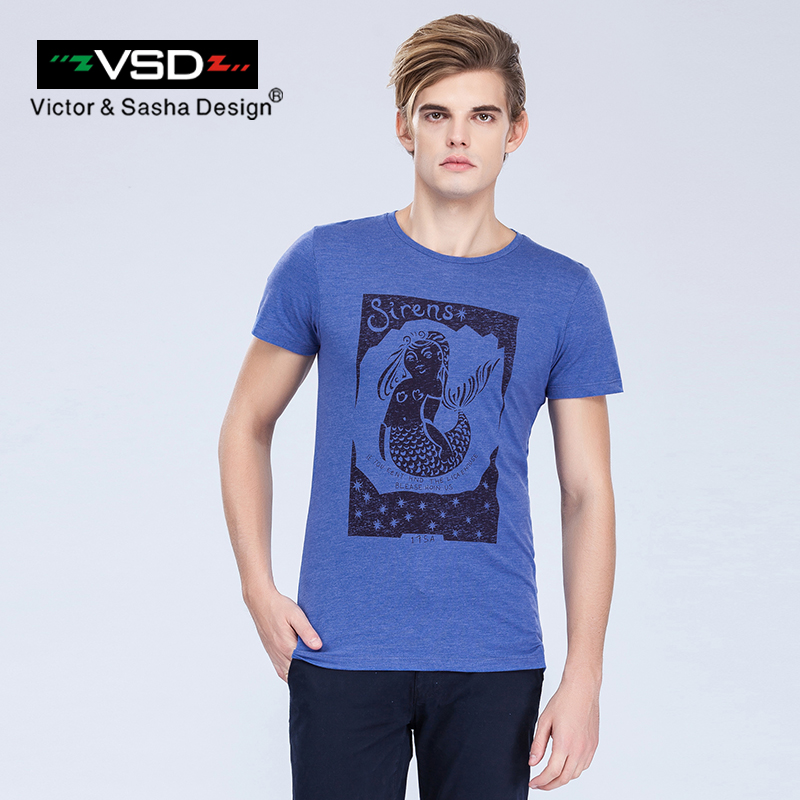 VSD 2017 High Quality T Shirt Fashion Printed Short Sleeve Summer O-Neck Casual Men's T-Shirt Slim Fit Cotton Famous Brand Y7201