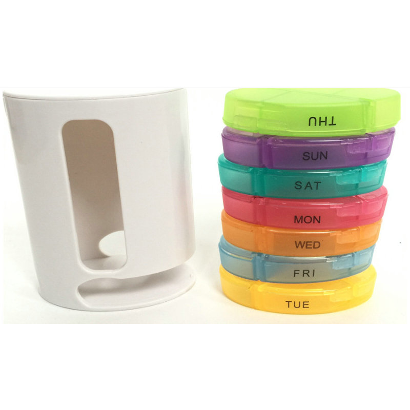 Outdoor portable creative medicine box seven-day medicine box capsule pillbox pillbox new products