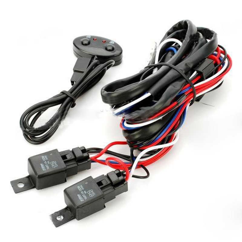 Light Wiring Harness relay switch offroad fog driving lamp led hid xenon truck