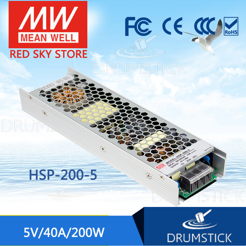 MEAN WELL original HSP-200-5 5V 40A meanwell HSP-200 5V 200W Single Output with PFC Function Power Supply citilux cl520511