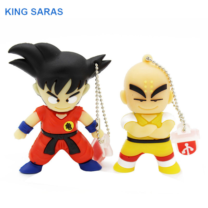 KING SARAS Pen Drive 4GB 8GB 32GB 64GB Cartoon Dragon Ball Goku Kuririn Pendrive 16gb Usb Flash Drive