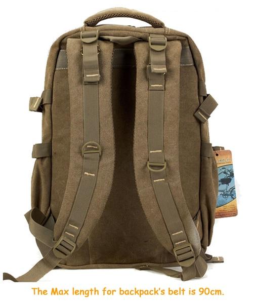 Man's Canvas Backpack Travel Schoolbag Male Backpack Men Large Capacity Rucksack Shoulder School Bag Mochila Escolar 6