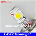 New Goods,25W*2 50W 2*1800 lumens 3600LM  Cree LED conversion kit ,H1 H3 H4 H7 H8 H9 H10 H11 9006 LED headlight Free shipping!