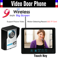 Wholesale prices 9 Inch Touch Monitor Wireless Wifi Video Door Phone Intercom Doorbell System Waterproof Night Vision Motion Detecting to Record