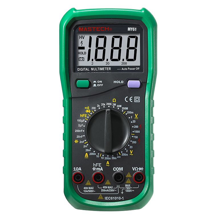 MASTECH MY61 Digital Multimeter DMM Frequency Capacitance Temperature Meter Tester w/ hFE Test Ammeter Multimetro Testers Meters  цены
