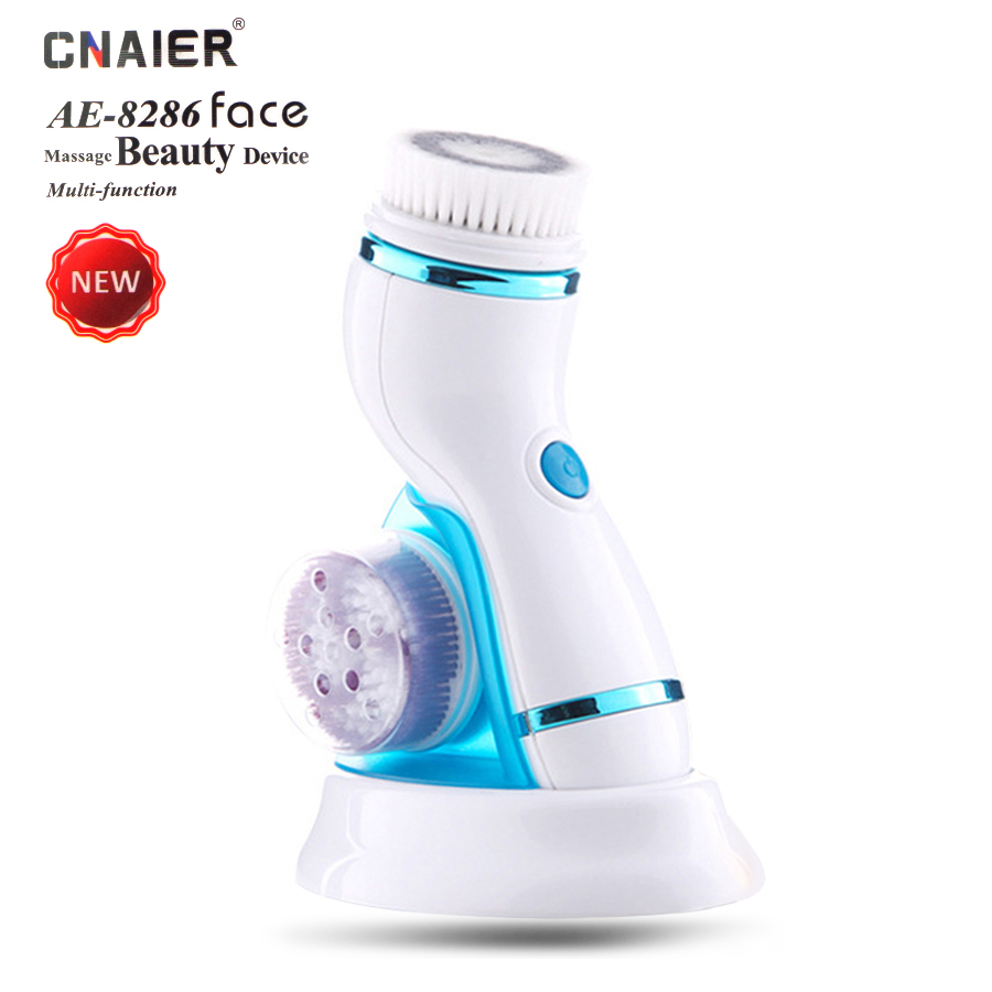 CHAIER 4 in 1 Waterproof electric face cleanser pores blackhead cleansing brush massage roller women beauty