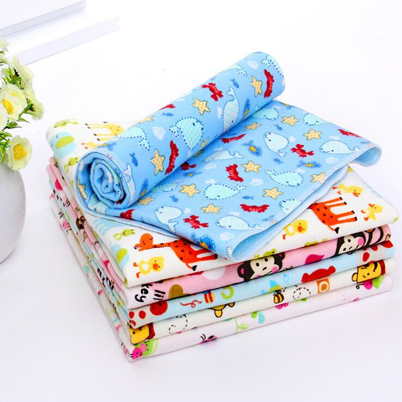 2020 New Arrive 9 Patterns Lovely Baby Kids Waterproof Mattress Sheet Protector Bedding Diapering Urine Mat Changing Pad 50*70cm