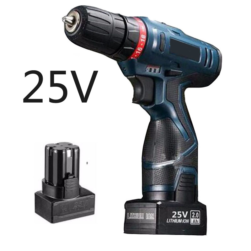 25V household electric tool cordless electric screwdriver battery drill multi function cordless screwdriver With Battery 2