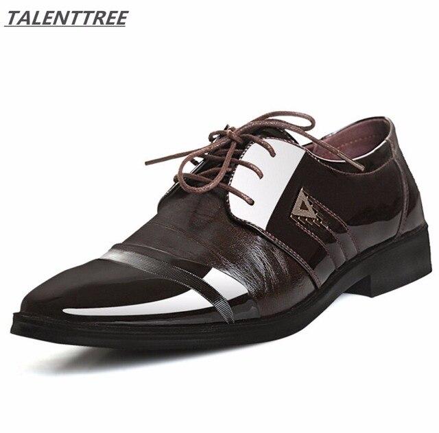 Большой размер 38–47 Для мужчин платье кожаные туфли Мужская обувь на плоской подошве Для мужчин обувь в стиле Дерби Классические туфли-оксфорды Для Мужчин Новая Мода Кружева острым Свадебные