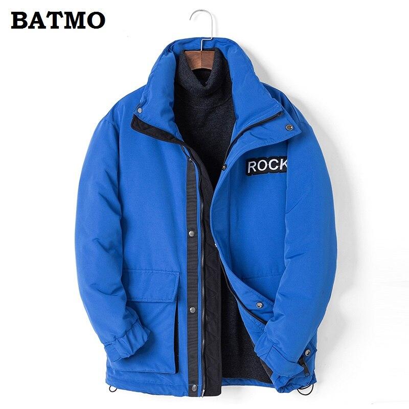 BATMO 2018 nouveauté hiver haute qualité 80% duvet de canard blanc vestes hommes, parkas d'hiver pour hommes, Ski-wear hommes grande taille 771