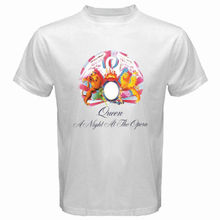 77395a4c674f New Queen A Night At The Opera Rock Band Men's White T-Shirt Size S
