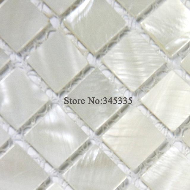 Heißer verkauf Weißes quadrat schale mosaik fliesen perlmutt küche ...