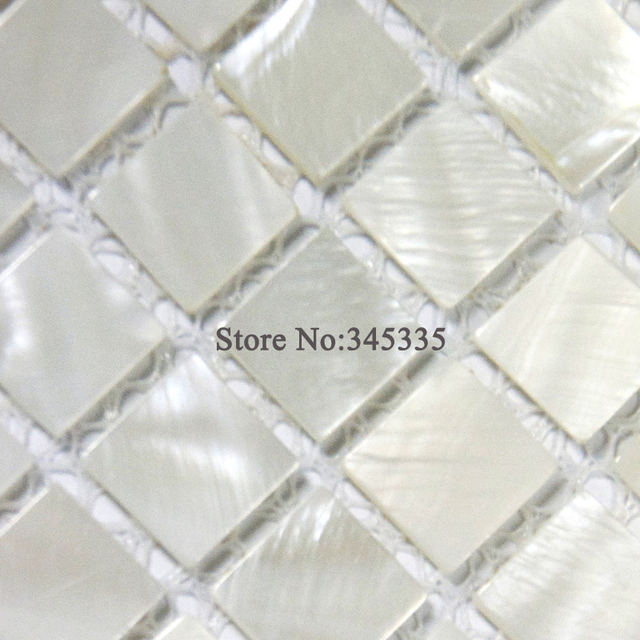 Hot sale White square shell mosaic tile mother of pearl kitchen ...