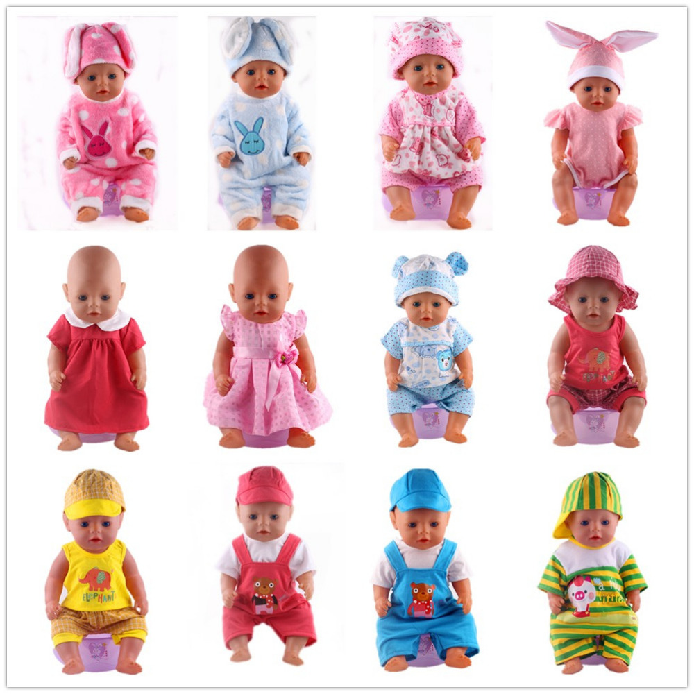 14Style Choose 1=Leisure Sports Doll Clothes Wear fit 43cm Baby Born zapf Doll,Children best Birthday Gift