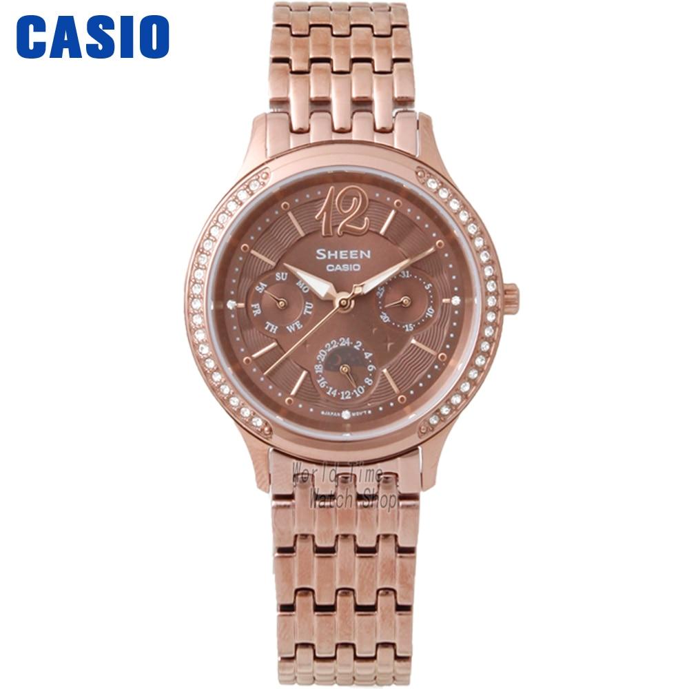 Casio Watch Business Waterproof Quartz Watch SHE-3030BGL-7A SHE-3030BR-5A casio watch fashion diamond waterproof quartz watch shn 3013d 7a shn 3013l 7a shn 3012gl 7a