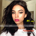 short wavy wigs synthetic lace front wig for black women Fashion #4 color/black color glueless lace wigs heat resistant bob hair